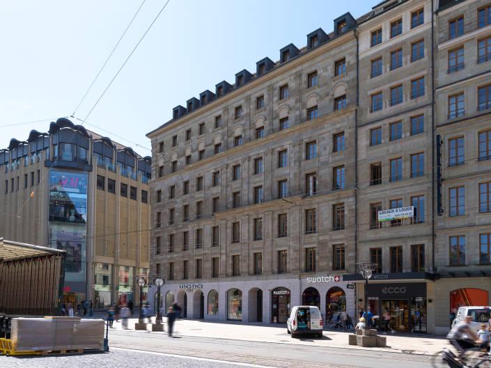 façade d'immeuble à Genève