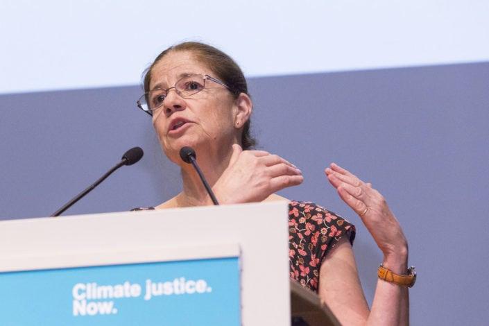 la rectrice de l'université de Lausanne, au sommet pour le climat de Lausanne